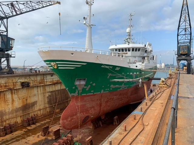 25/03/2021: M/V Antarctic in dry dock